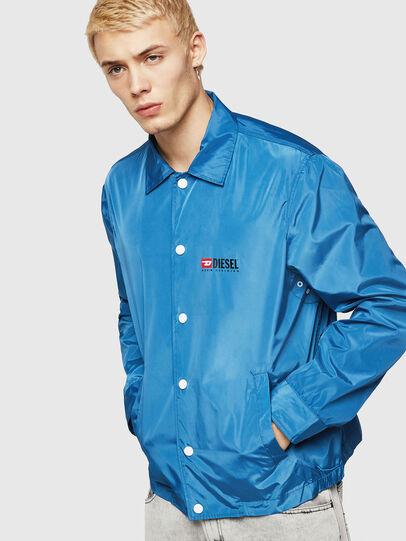 Diesel - J-ROMAN-P, Blue - Jackets - Image 1