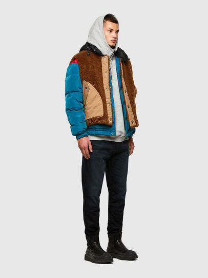 Diesel - W-HEROESY, Blue/Brown - Winter Jackets - Image 7