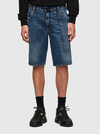 Diesel - D-KROOSHORT-Y-GO JOGGJEANS, Dark Blue - Shorts - Image 1