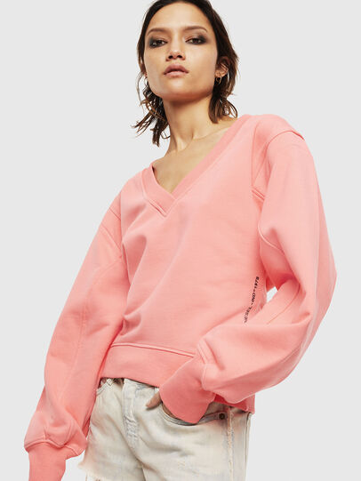 Diesel - F-AKIN, Pink - Sweatshirts - Image 1