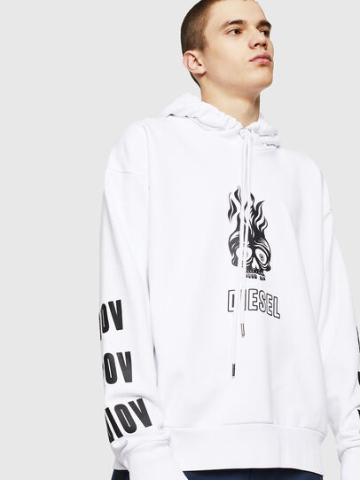 Diesel - S-ALBY-A1, White - Sweatshirts - Image 3