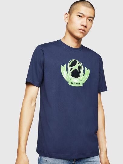 Diesel - T-JUST-B1, Blue - T-Shirts - Image 1