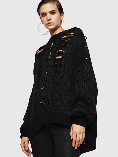 Diesel - MEBLY, Black - Sweaters - Image 1