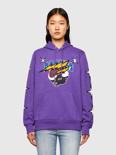 Diesel - CL-S-GIRK-HOOD-O1, Violet - Sweatshirts - Image 2