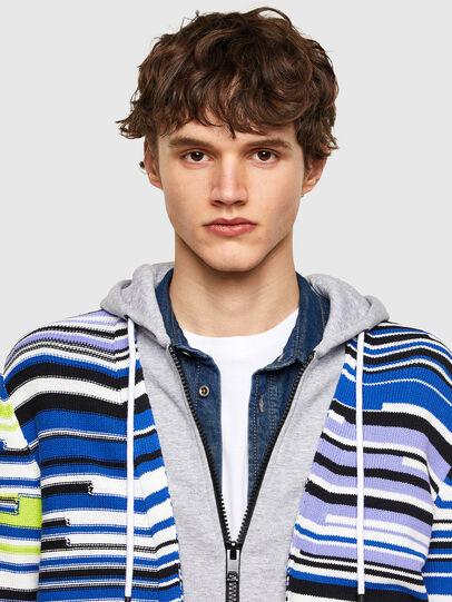 Diesel - K-CITRIN, Grey/Blue - Sweaters - Image 3