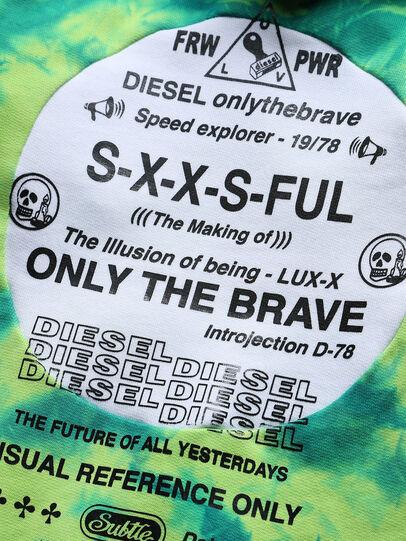 Diesel - SMOONY OVER, Green Fluo - Sweatshirts - Image 3