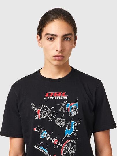 Diesel - T-JUST-B53, Negro - Camisetas - Image 3