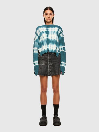 Diesel - M-JONGE, Green/White - Sweaters - Image 5