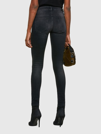Diesel - Slandy Skinny Jeans 069SB, Black/Dark Grey - Jeans - Image 2