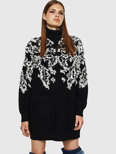 Diesel - M-CV-FURS, Black - Sweaters - Image 1
