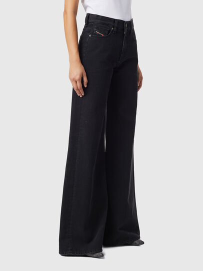Diesel - D-Akemi Bootcut Jeans Z09RL, Black/Dark Grey - Jeans - Image 6