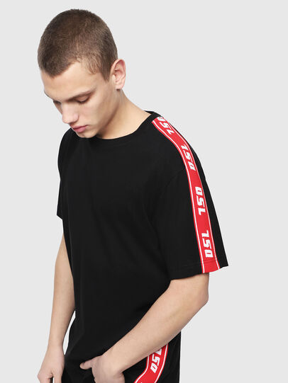 Diesel - T-JUST-RACE, Black/Red - T-Shirts - Image 3