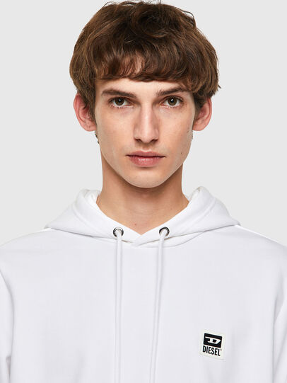 Diesel - S-GIRK-HOOD-K21, White - Sweatshirts - Image 3