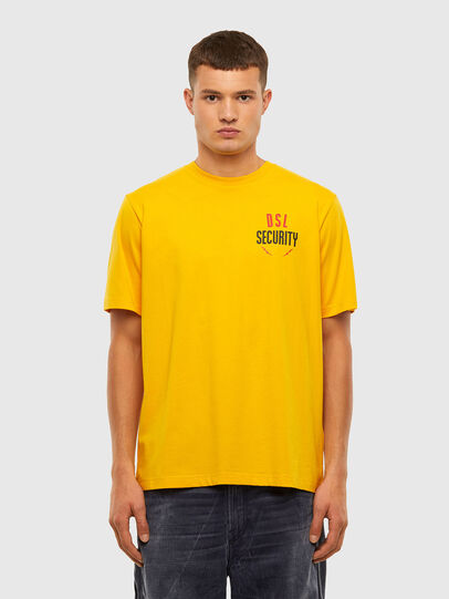 Diesel - T-JUST-N41, Yellow - T-Shirts - Image 1