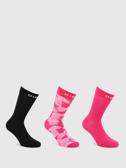 Diesel - SKM-RAY-THREEPACK, Black/Pink - Socks - Image 1
