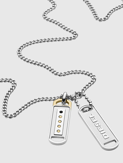 Diesel - DX1213, Silver - Necklaces - Image 2