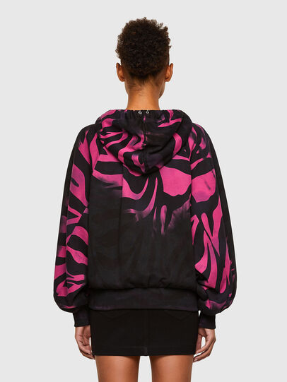 Diesel - F-BIORG, Black/Pink - Sweatshirts - Image 2