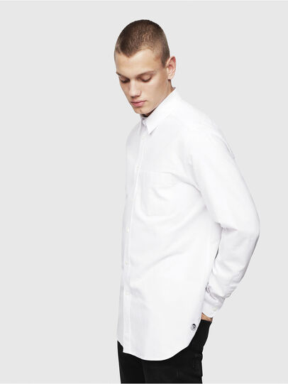 Diesel - S-MOI-R, White - Shirts - Image 1