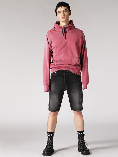 Diesel - KROOSHORT JOGGJEANS, Dark Grey - Shorts - Image 5