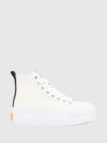 Leather sneakers with double sole