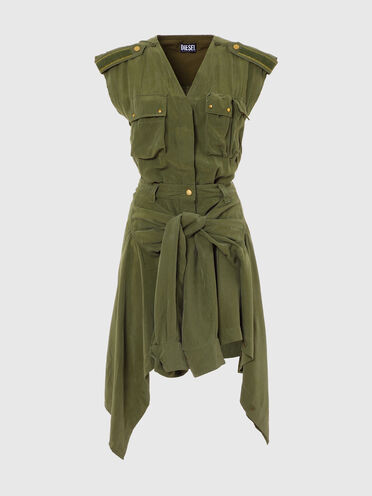 Green Label tie-front shirt dress