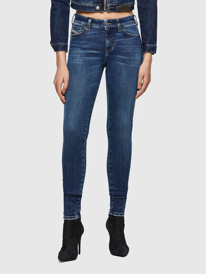 Diesel - Slandy Skinny Jeans 009ZX, Dark Blue - Jeans - Image 1