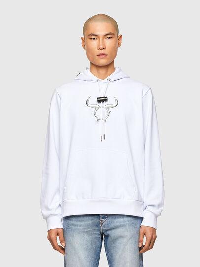 Diesel - CL-S-GIRK-HOOD-O, White - Sweatshirts - Image 1