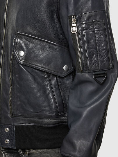 Diesel - L-STEPHEN, Black - Leather jackets - Image 5
