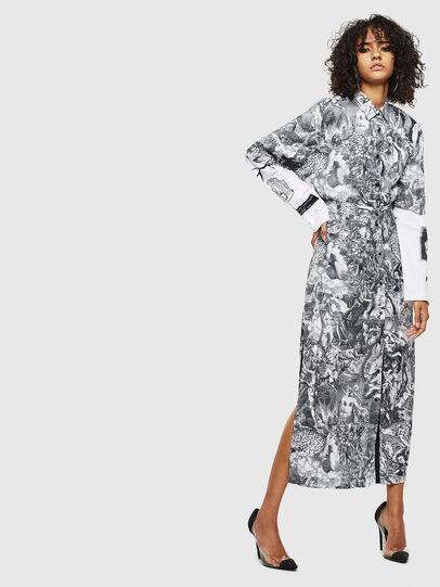 Diesel - O-MOYA-B, Black/White - Skirts - Image 6