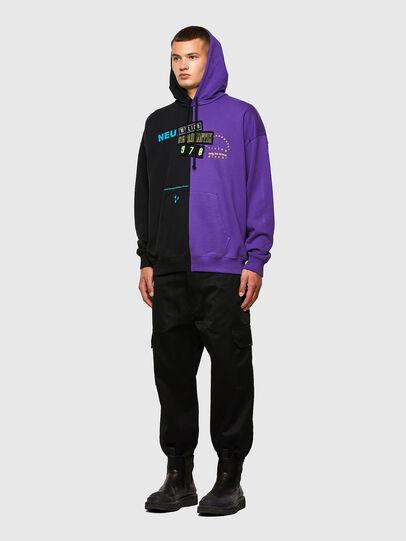 Diesel - S-UMMER-SPLIT-N1, Black/Violet - Sweatshirts - Image 5