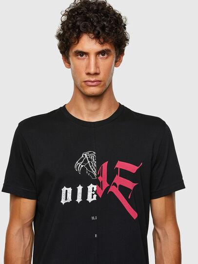 Diesel - T-DIUBBLE-N1, Black - T-Shirts - Image 4