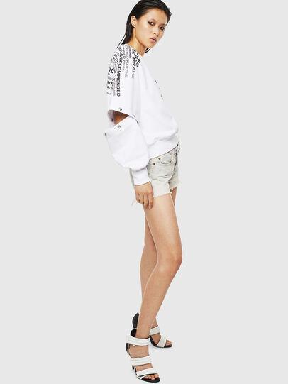 Diesel - F-AYALA, White - Sweatshirts - Image 5
