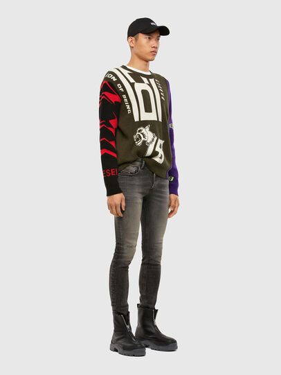 Diesel - Sleenker 009JF, Black/Dark Grey - Jeans - Image 6