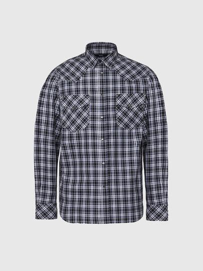 Diesel - S-EAST-LONG-O, Black/White - Shirts - Image 1