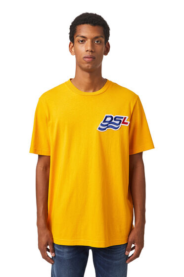 T-shirt with DSL wave patch