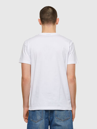 Diesel - T-DIEGOS-E32, White - T-Shirts - Image 2