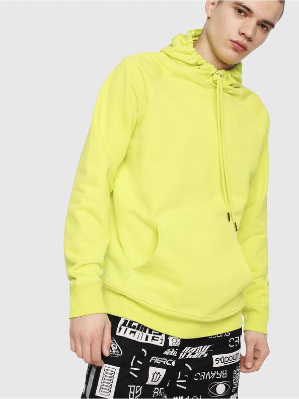 S-GIM-HOOD-A, Yellow Fluo - Sweatshirts