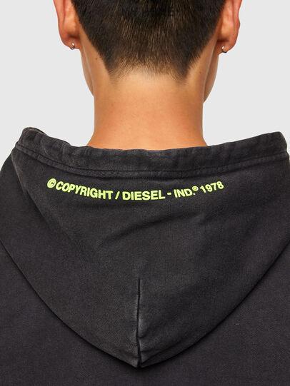 Diesel - S-GIRRIB-HOOD-A71, Black - Sweatshirts - Image 4