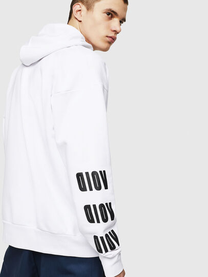Diesel - S-ALBY-A1, White - Sweatshirts - Image 4