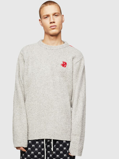 Diesel - K-CASY, Light Grey - Sweaters - Image 1