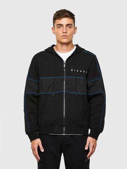 Diesel - S-LAIN-ZIP, Black - Sweatshirts - Image 1