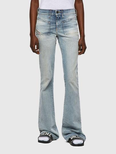 Diesel - D-Ebbey Bootcut Jeans 09A04, Light Blue - Jeans - Image 1
