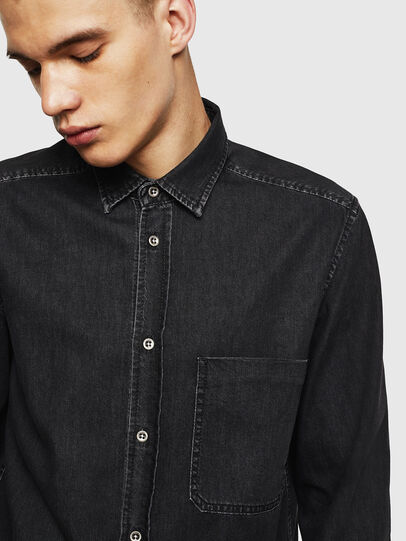 Diesel - D-BER-P, Black - Denim Shirts - Image 4
