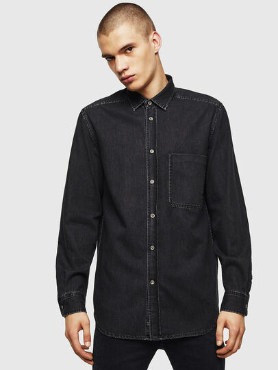 Diesel - D-BER-P, Black - Denim Shirts - Image 1