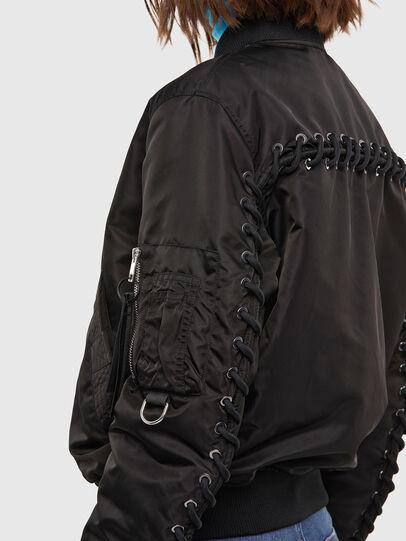 Diesel - W-SWING, Black - Winter Jackets - Image 5