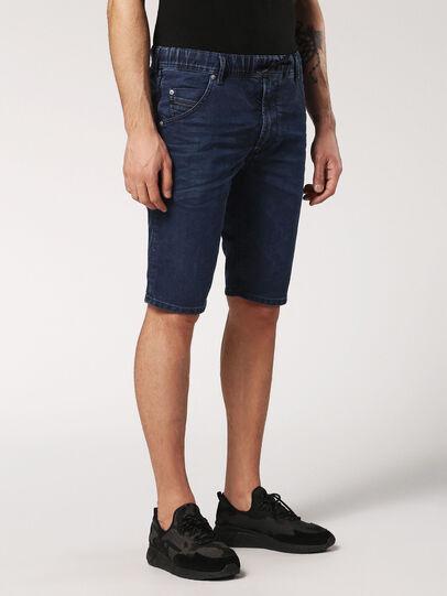 Diesel - KROOSHORT JOGGJEANS, Dark Blue - Shorts - Image 3