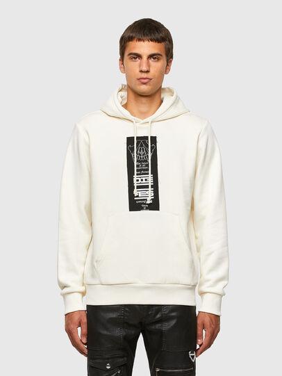 Diesel - S-GIRK-HOOD-N3, White - Sweatshirts - Image 1