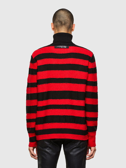 Diesel - K-BRENTON, Red/Black - Sweaters - Image 2