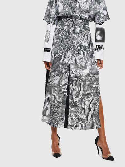 Diesel - O-MOYA-B, Black/White - Skirts - Image 1
