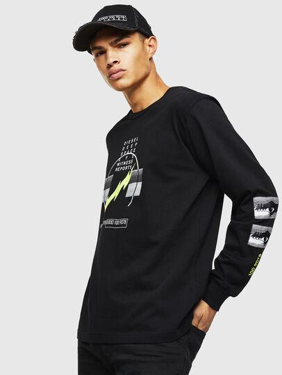 Diesel - T-JUST-LS-J3, Black - T-Shirts - Image 1